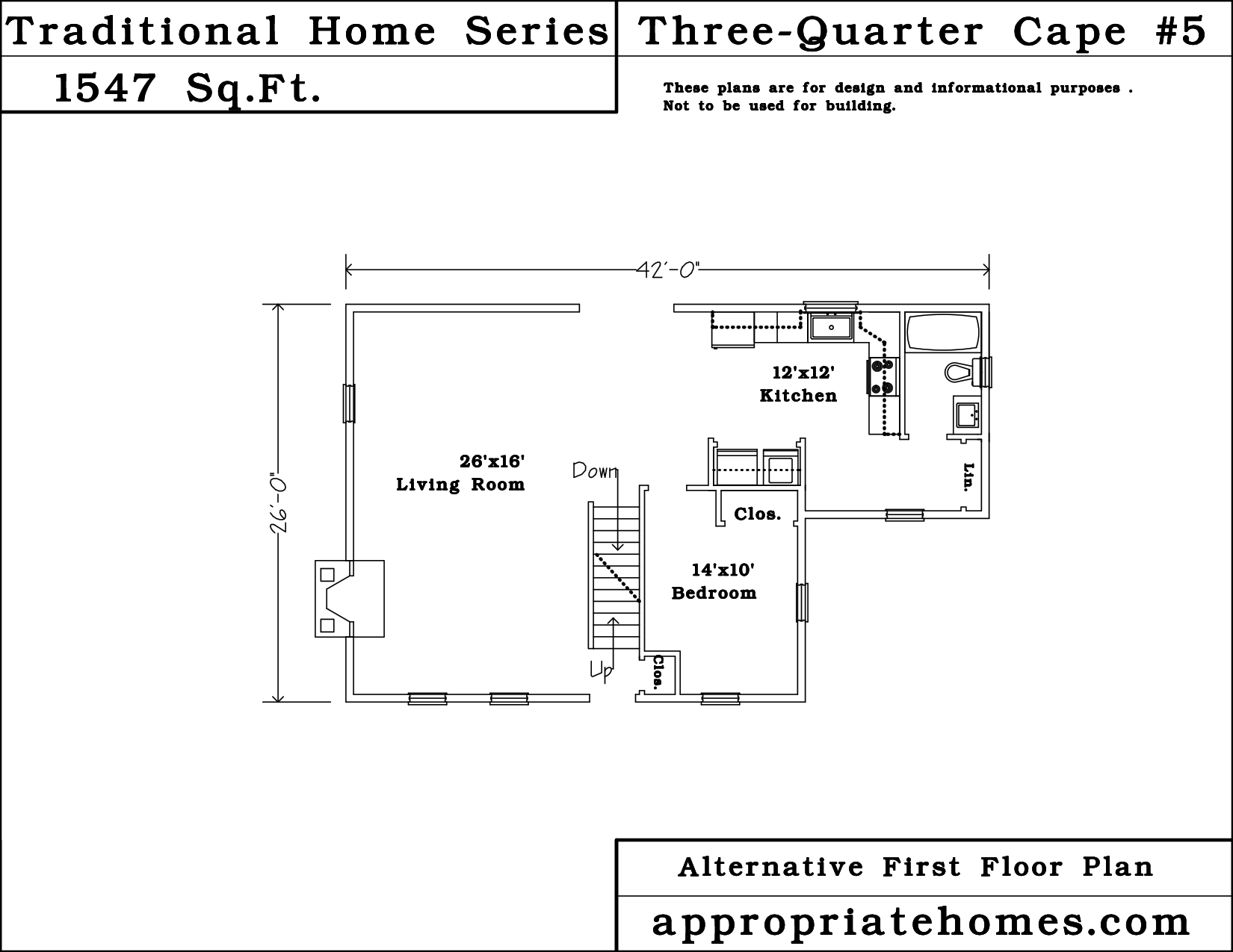 Cape cod home design three quarter cape style house for Cape cod renovation floor plans