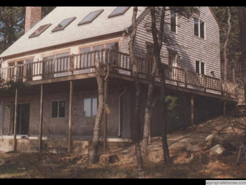 Decks and decking deck builder provincetown 02657 for Deck designs over walkout basement