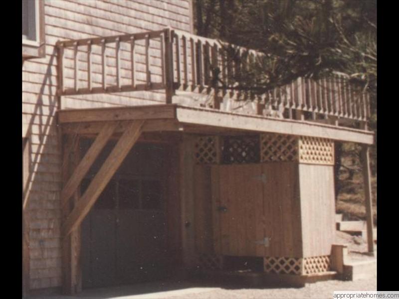 Decks and decking truro deck builder 02666 for Deck over garage designs