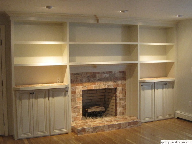 fireplace bookcase plans