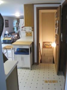 basement stair door