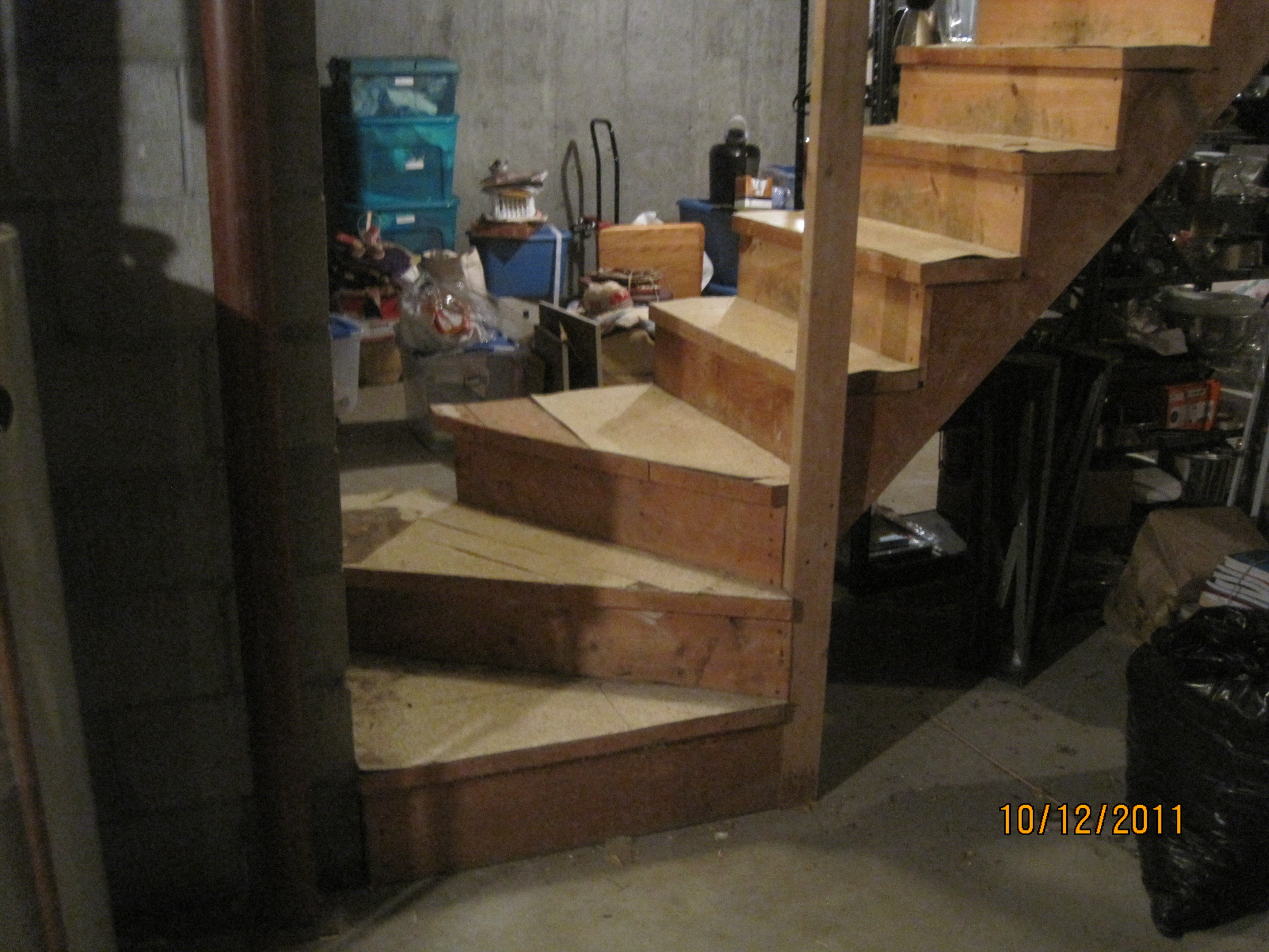 Home Improvement Project New Basement Stairs New Floors