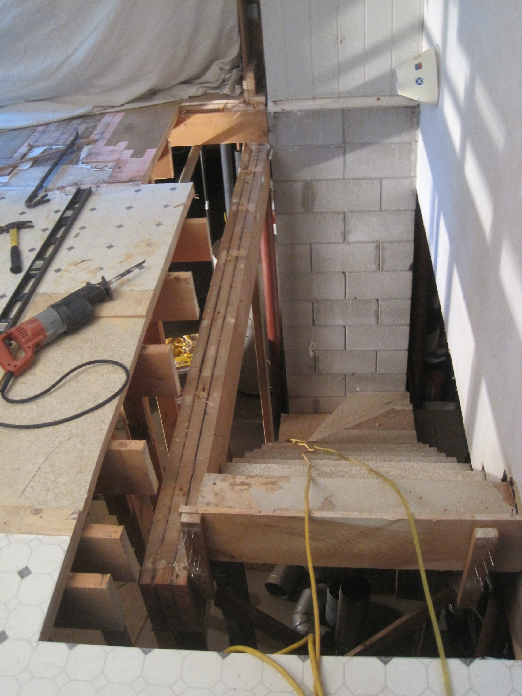 Floor Joists Cut Back