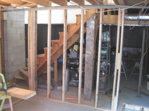 build stairway wall