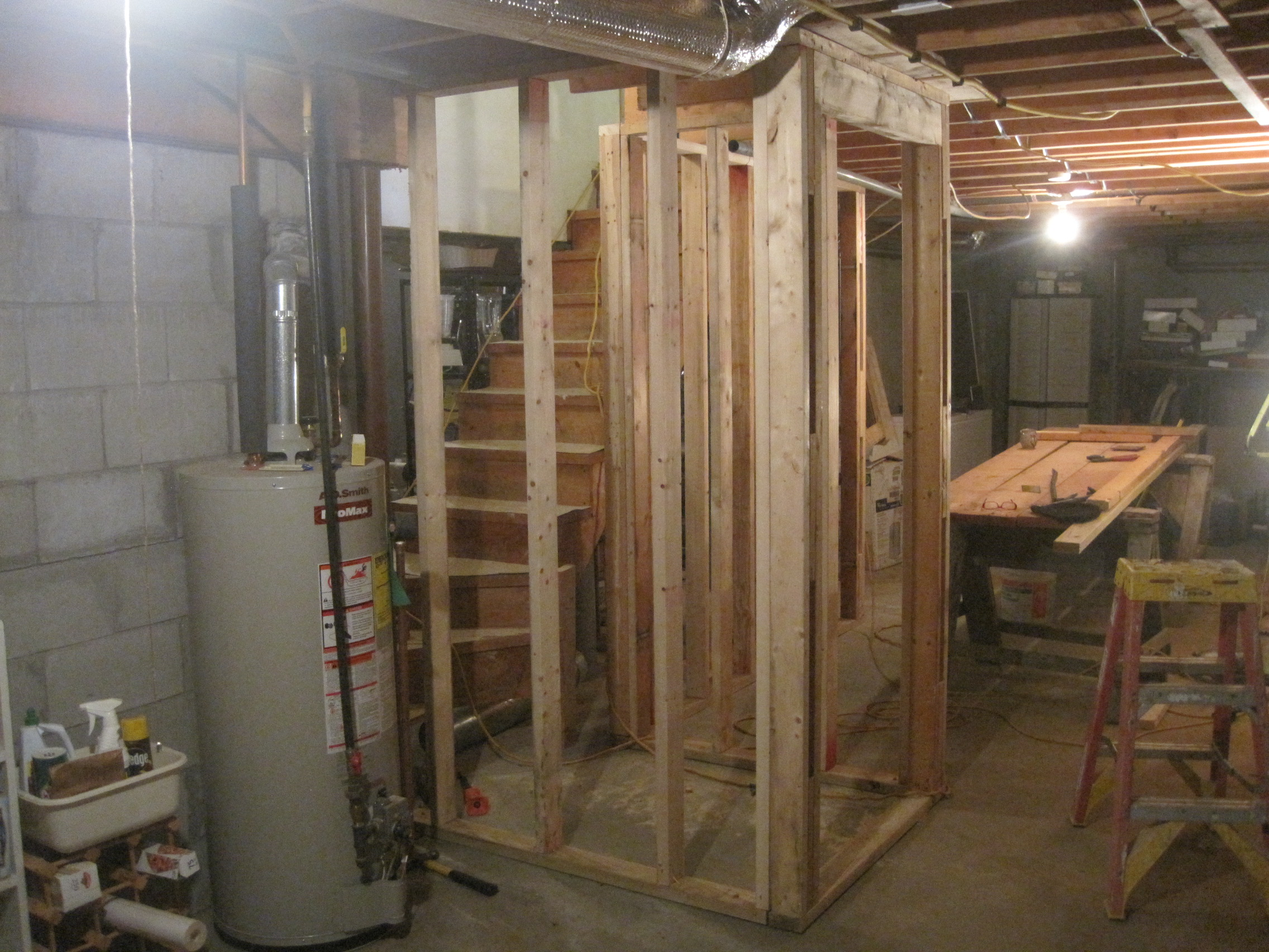 Basement stair framing | Home Improvement Blog