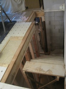 rim joist and first wall shoe