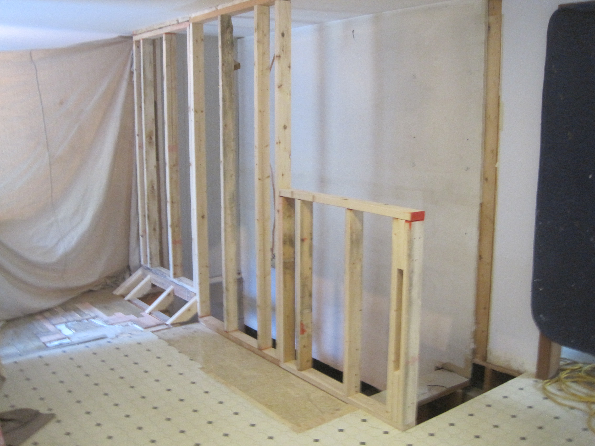 Framing Bat Stair First Floor Walls Home Improvement Blog