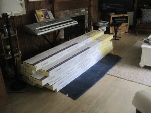 flooring stored in room for acclimation